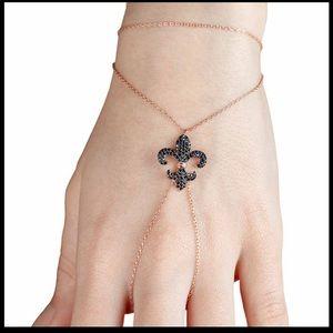 Jewelry - Hand Chain Finger Bracelet, Silver